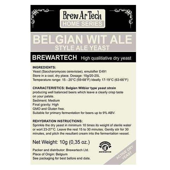 Brewartech Belgian Wit Ale sörélesztő 10g